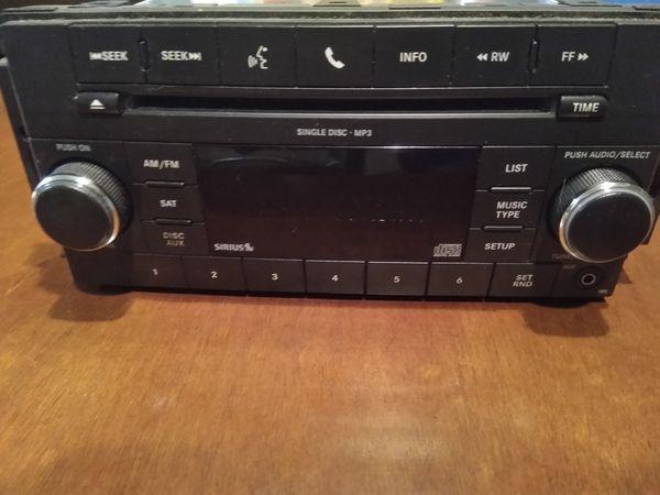 Sirius radio, CD player. Dodge Caravan.