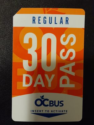 Brand new regular 30 day bus pass for Sale in Anaheim, CA