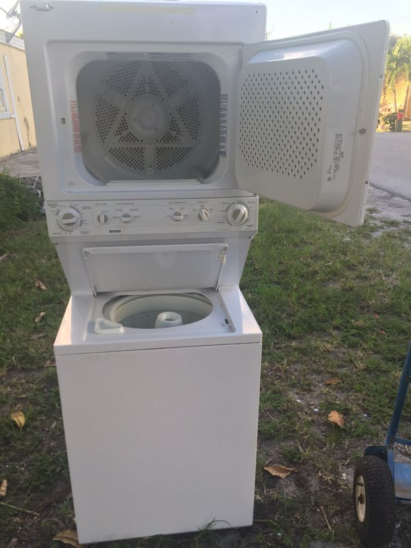 Washer and dryer stackable 27x75 work good
