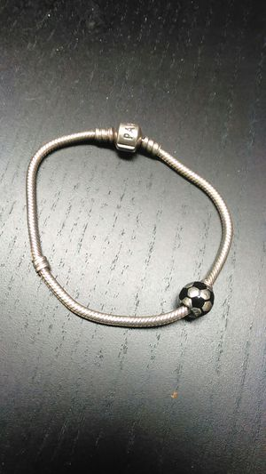 Pandora Sterling Silver Bracelet with Charm for Sale in Portland, OR