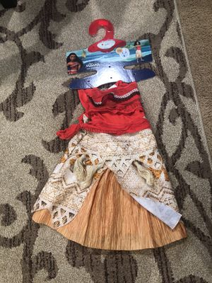 Moana costume 3t-4t necklace included for Sale in Tacoma, WA