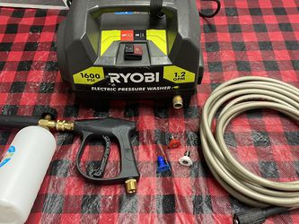 Ryobi 1600 psi Electric Pressure Washer Only Asking $90 Includes Foam Cannon for Sale in La Habra,  CA