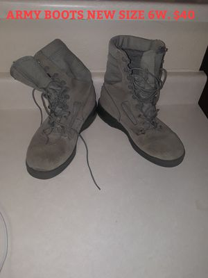 ARMY BOOTS NEW /SIZE 6W / $40 for Sale in Las Vegas, NV