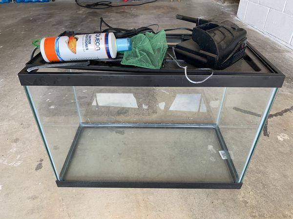 aquarium+ filter, heater, water conditioner