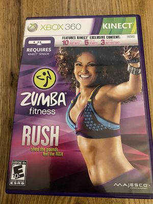 XBOX 360 Zumba fitness Rush game for Sale in Fuquay-Varina, NC