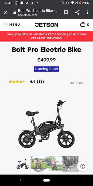 Jetson bolt pro e bike for Sale in San Diego, CA