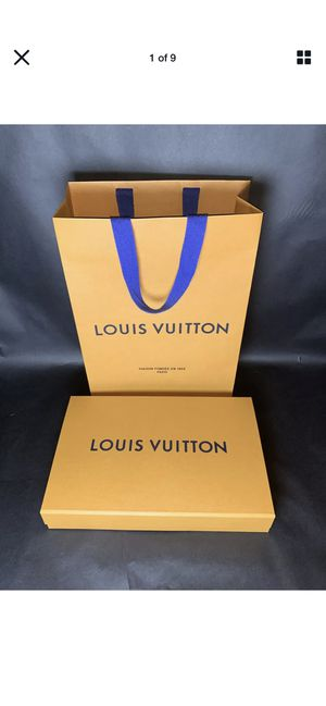 "Authentic Louis Vuitton Magnetic Box 12x8.05x2.10"" /Wrapping papers/ Paper Bag . for Sale in Newcastle, WA"