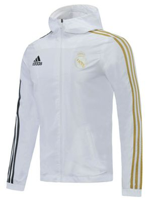 REAL MADRID white training windbreaker jacket chaqueta cortavientos for Sale in La Habra Heights, CA