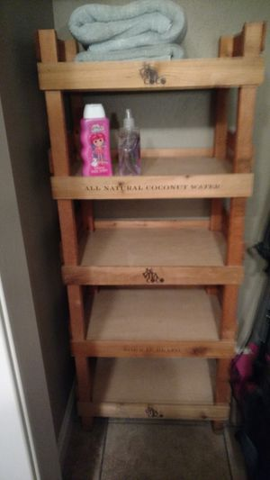 "Wooden ""Coconut Water"" Shelf Display for Sale in WA, US"