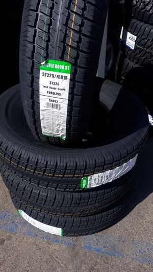 St225 75 r15 trailer tires 4new $220 for Sale in Lake Elsinore, CA