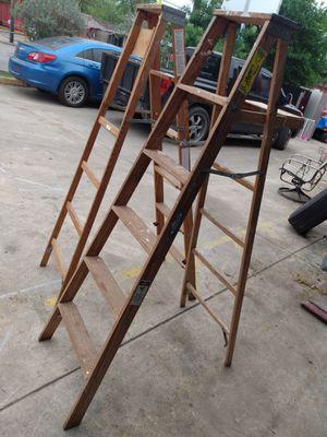 2. 6f wood Werner ladders for Sale in San Antonio, TX