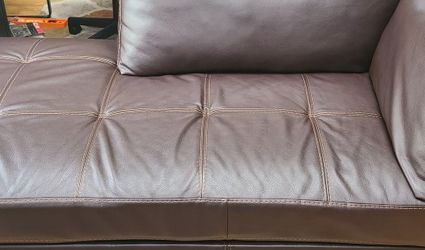 Chocolate Brown Chaise sofa for Sale in Bowie,  MD