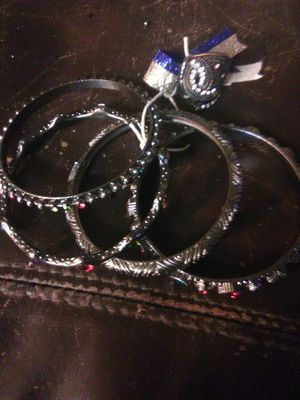 Bangles( set of 4) and matching ring for Sale in El Dorado, AR