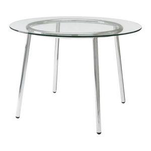 "Ikea round 40"" dia. glass kitchen table for Sale in Mercer Island, WA"