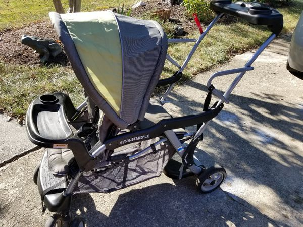 Double stroller travel system
