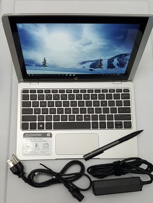 "HP 10-p010wm Notebook x2 10.1"" Screen, WXGA Touchscreen, 1.44GHz (4GB RAM 64GB eMMC) Win 10 + HP Active Pen - USB C, Bluetooth W-Fi Laptop Computer for Sale in New York, NY"