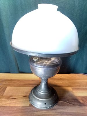 Antique Brass Center Draft Russian Oil Table Lamps Pierced Heart Clovers for Sale in Houston, TX