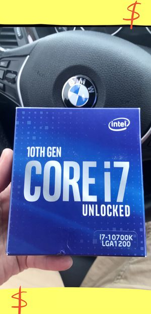 i7-10700K Intel CPU •• 5.1GHz•• BRAND NEW•• for Sale in Los Angeles, CA