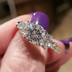 3 stone 5.80 ct. White sapphire ring..... sizes 7 and 10 for Sale in Riverside, CA