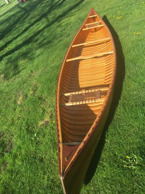 15 1/2' Rheaume Wood Strip Canoe Made in Canada for Sale in Libertyville, IL