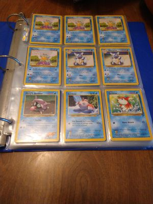 Binder full of wizard base set 2nd edition pokemon cards 2.50 a card 252 cards for Sale in Lancaster, CA