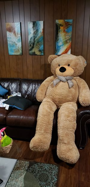 giant teddy bear over 6 feet tall, ready to meet up today for Sale in Decatur, GA