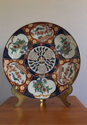 Vintage hand-painted Gold Imari plate for Sale in Phoenix, AZ