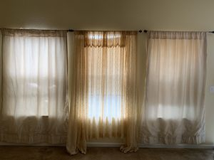 Window Curtains and rod for Sale in Merced, CA