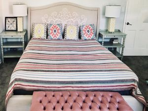 Excellent condition. Designer Bed with Premium Quality Beautyrest Silver mattress Size California king for Sale in Arcadia, CA