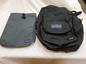Black jansport backpack with laptop sleeve for Sale in Yuma, AZ