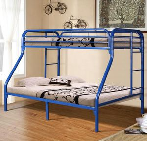 BEST Price 👑 Brand NEW Nigella Blue Metal Twin/Full Bunk Bed | 4482 for Sale in Jessup, MD