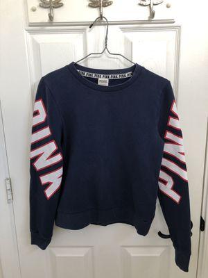 Victoria Secret Pink. Navy blue sweatshirt (fleece lined) for Sale in Scottsdale, AZ