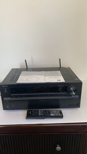 Onkyo TX TX-NR676 7.2 Channel 170 Watt Receiver With Remote & Instructions Black for Sale in San Diego, CA