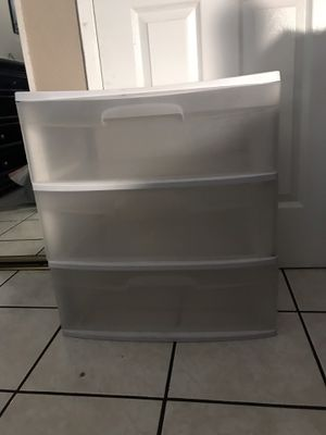 Sterilite 3 drawer for Sale in Chino, CA