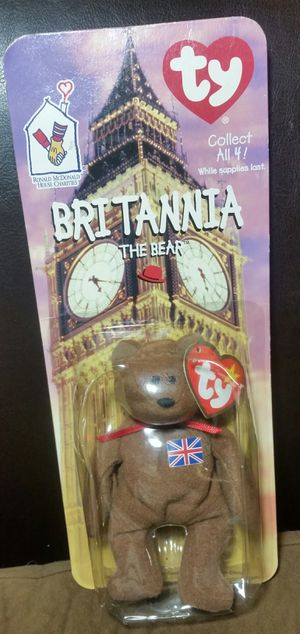 Britannia Beanie Baby with errors for Sale in San Diego, CA