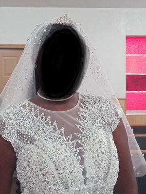 Diamond Pearl Mermaid Wedding Dress for Sale in Auburndale, FL