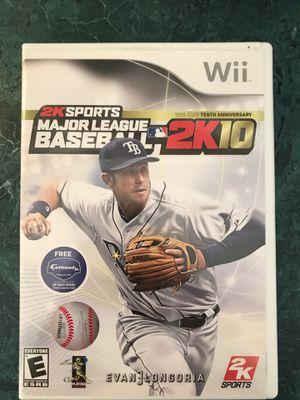 2K Sports Major League Baseball 2K10 - Wii for Sale in Clayton, NC