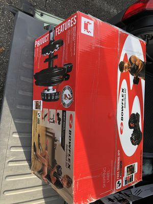 Bowflex 552 selectTech adjustable select a weight dumbbell brand new in box with free training app for Sale in Edgewood, WA