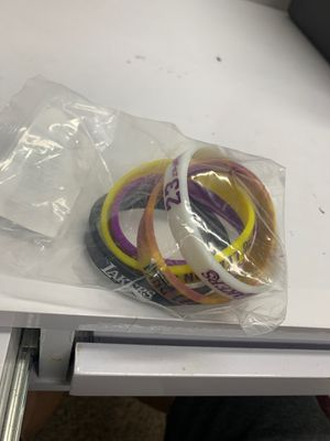 Lakers wristbands 5pcs Lebron James for Sale in Los Angeles, CA