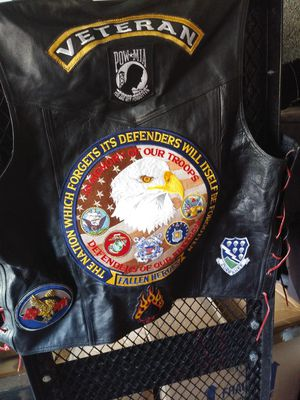 Leather motorcycle vest for Sale in Clarksville, TN