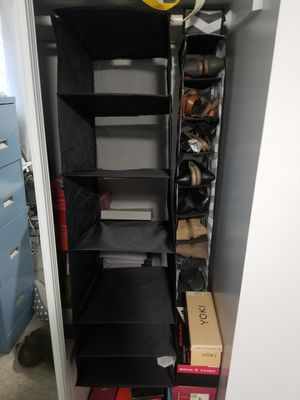 6 shelf closet hanging organizer black for Sale in San Dimas, CA