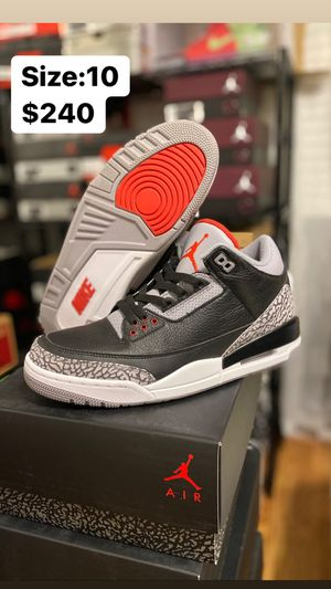 Jordan 3 Black Cement size 10 for Sale in Temecula, CA