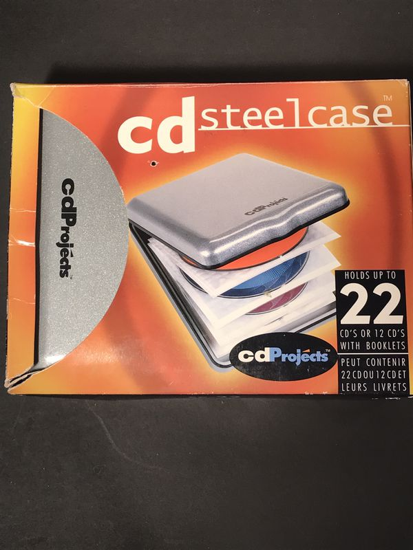 CD Projects 22 Disc Holder Steel Case (New) Silver