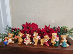 Cinnamon Bear Porcelain Ornaments Collection/Hallmark/7 out if 8 in series for Sale in Huntington Beach, CA