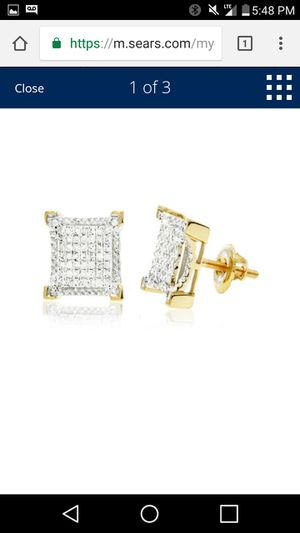 Diamond earrings 18kg for Sale in Colorado Springs, CO