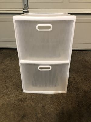 Plastic 2-Drawer File or Storage Container for Sale in Tigard, OR