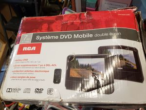 """RCA 7"""" DRC69705E22 LCD Dual Screen Portable Mobile DVD Player System BRAND NEW!! for Sale in Brockton, MA"""