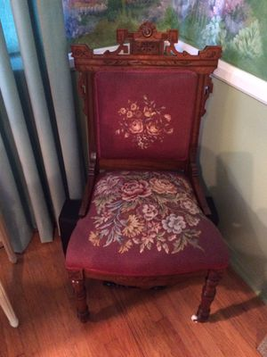Antique needlepoint chair. for Sale in Santa Monica, CA