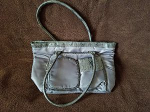 NEW Avon Grey & Snakeskin Polyester Tote Shoulder Bag with Pockets for Sale for sale  Brooklyn, NY