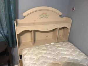 Twin girls bed with storage with mattress for Sale in Tampa, FL